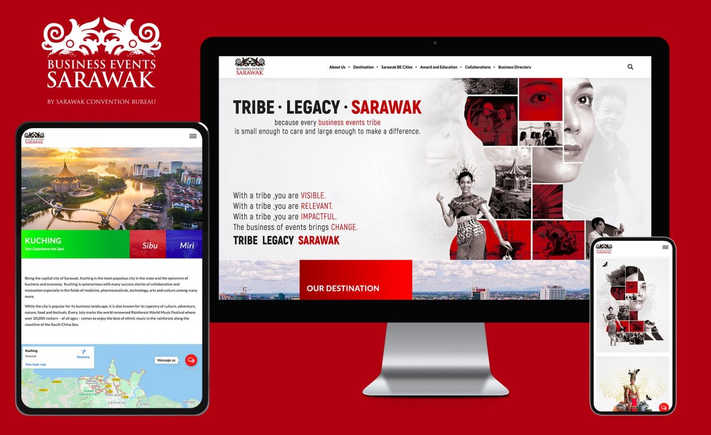 Business Events Sarawak (Sarawak Convention Bureau) Official Website Design (2021)